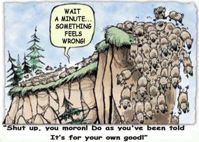 Lemmings at the cliff